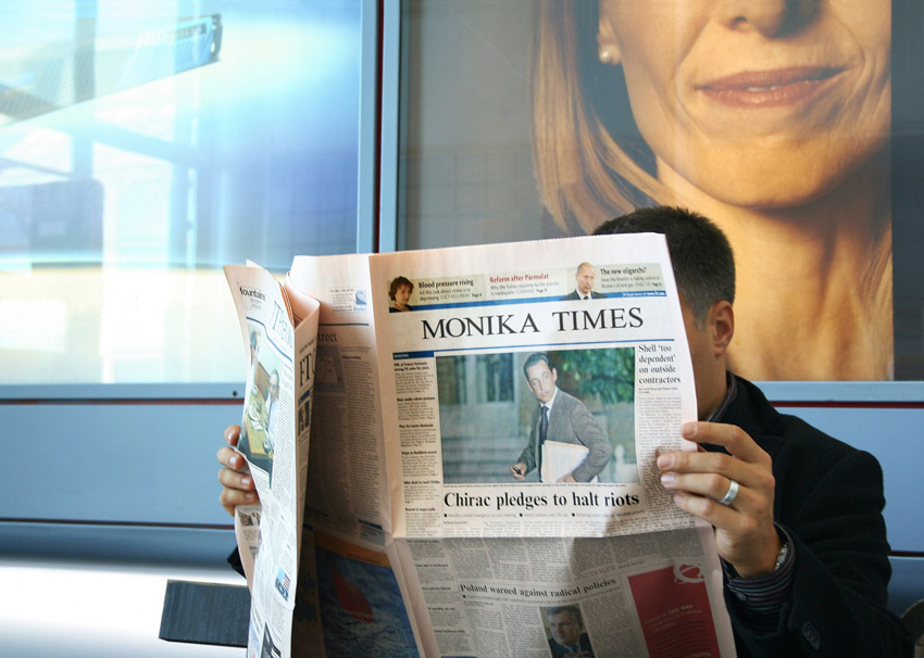 Newspaper Caption