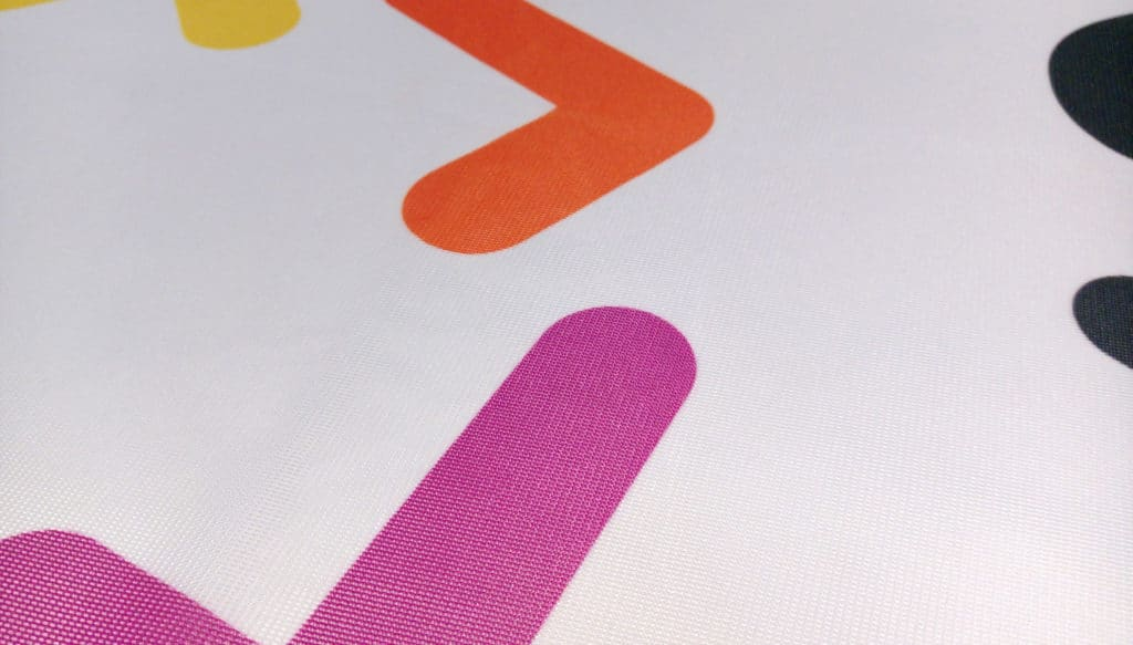 Printed polyester textile