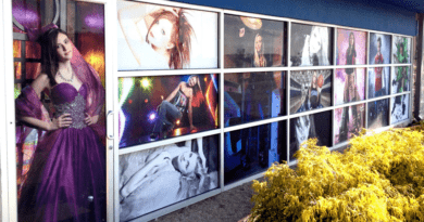 adhesive vinyl printing for store and office windows