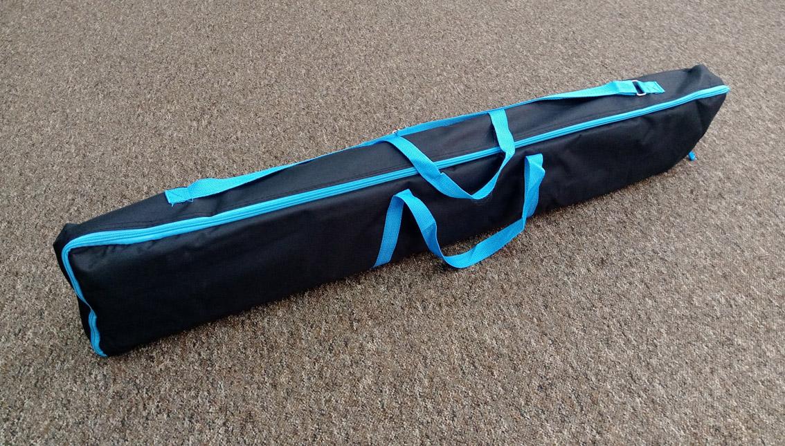 tania ścianka tekstylna z torbą transportową