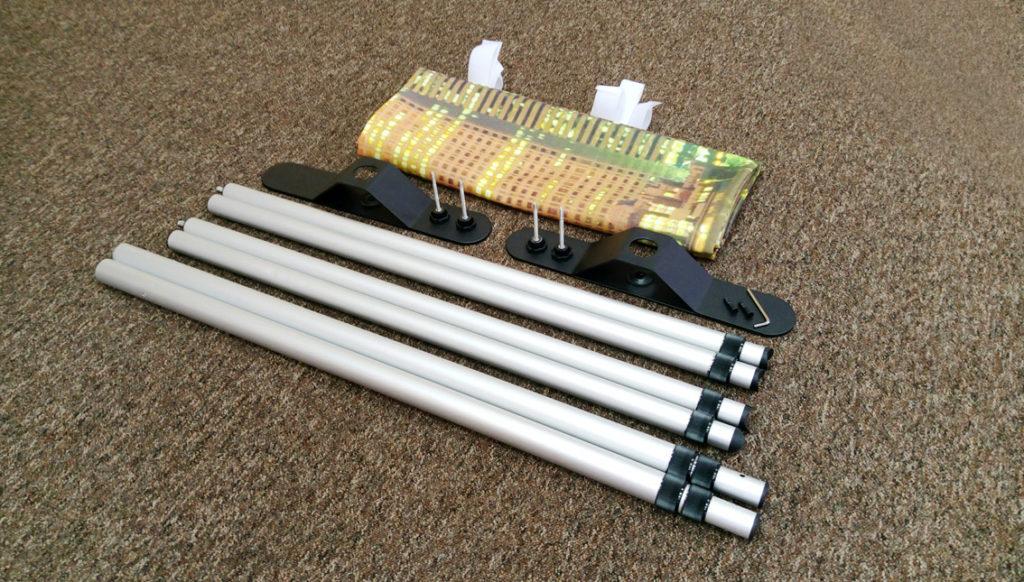 textile backwall kit contents