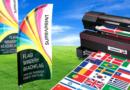 Oriflamme beachflag aluminium publicité durable drapeaux