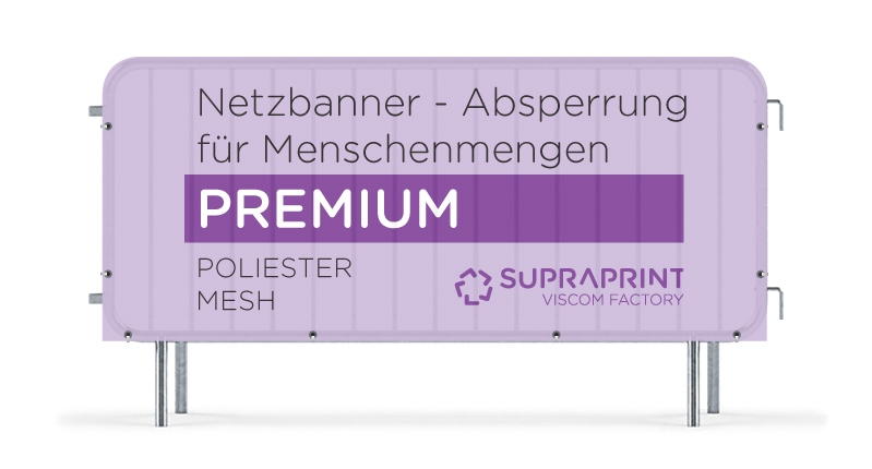Stoff Netz Banner für Absperrgitter