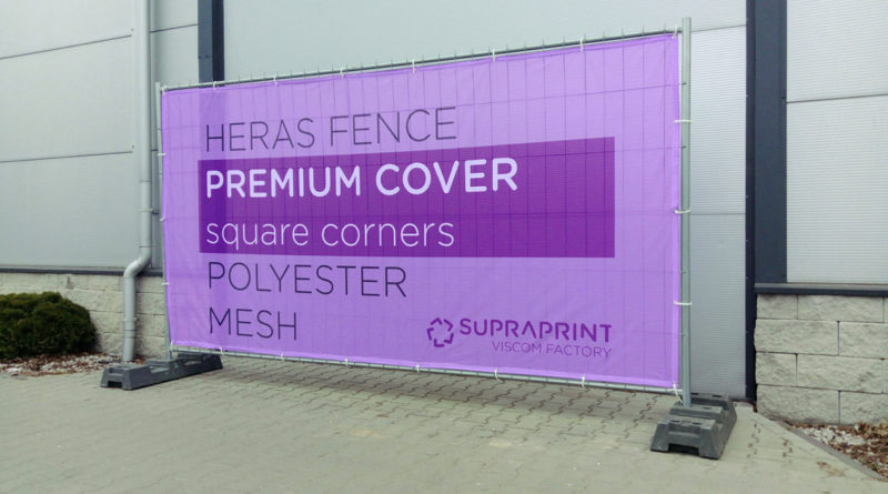 Printed banner for temporary heras fence