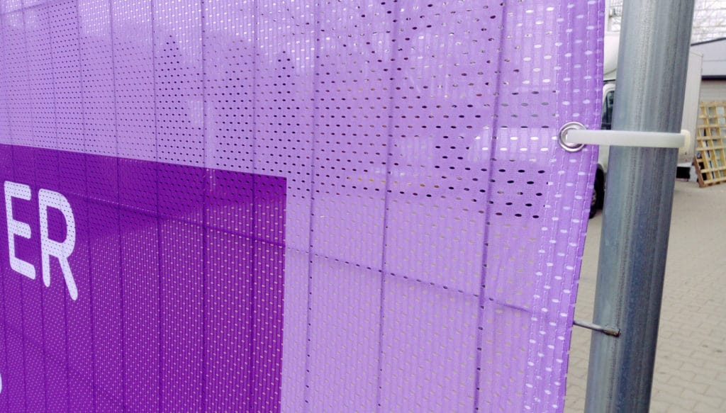 perforated material for heras fence cover