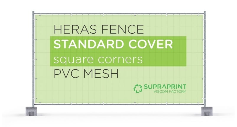heras fence cover with squared corners