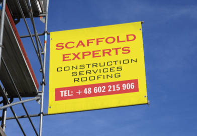 Scaffold banner
