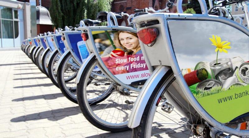 wydruki reklamowe na rowerach