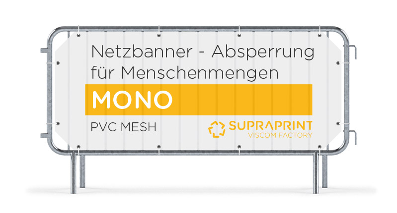 Billig Mesh Banner für Absperrgitter