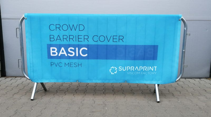 Doublesided cheap cover for crowd barrier