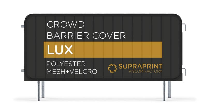 Doublesided airtex banner for crowd barrier