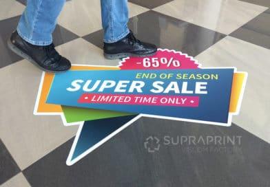 floor stickers with anti-slip laminate R10