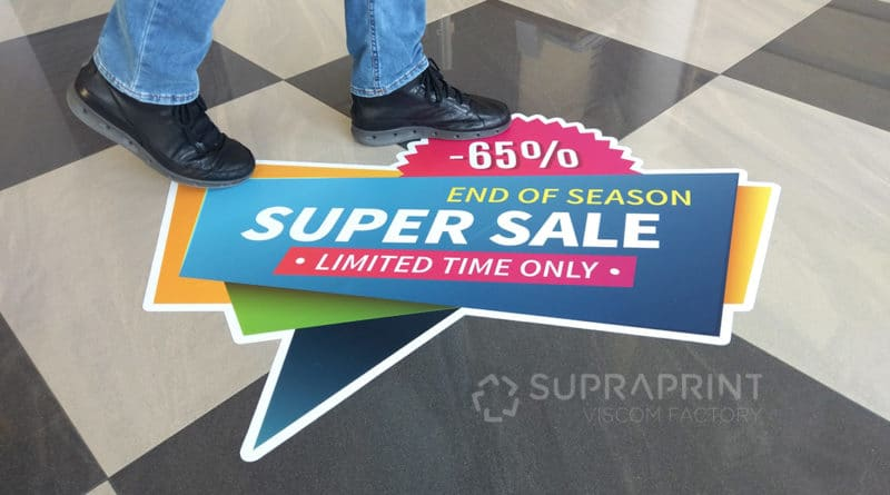 floor stickers with anti-slip laminate R10