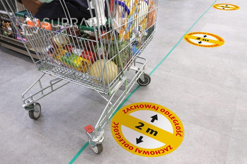 ostrzegawcze naklejki podłogowe
