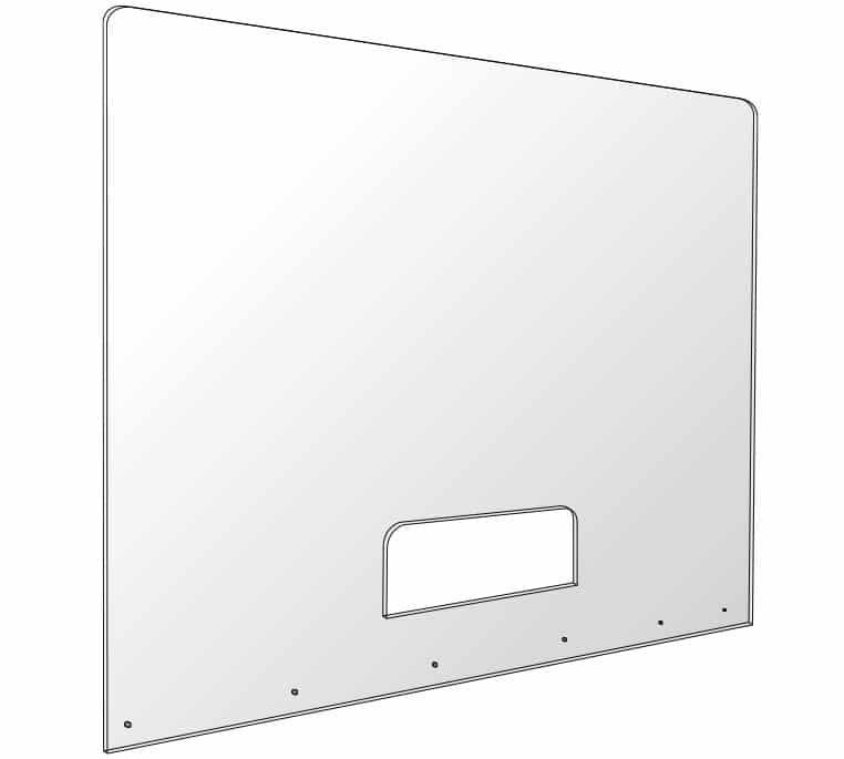 acrylic covid shield for cashier checkout