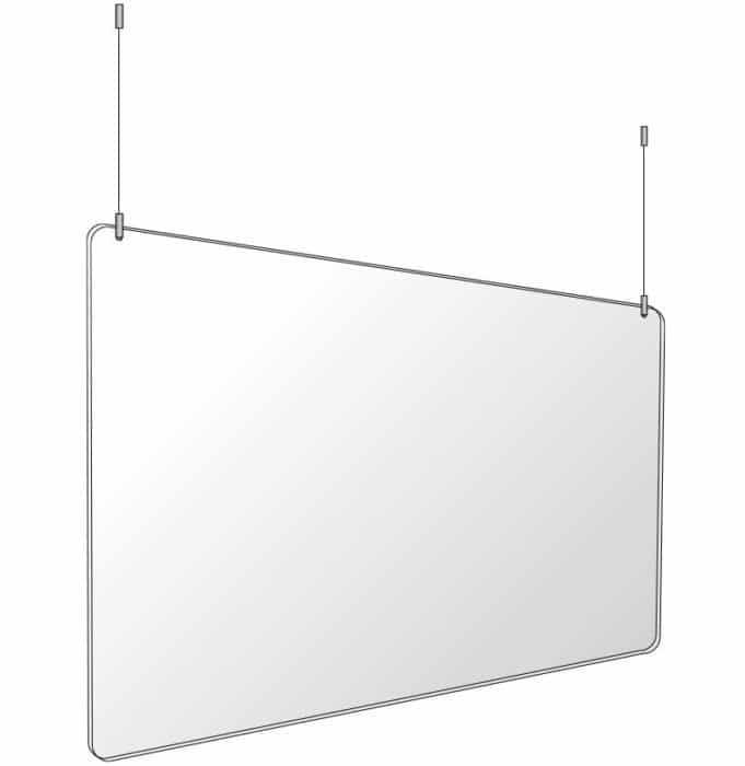 protective plexiglass hanging shield