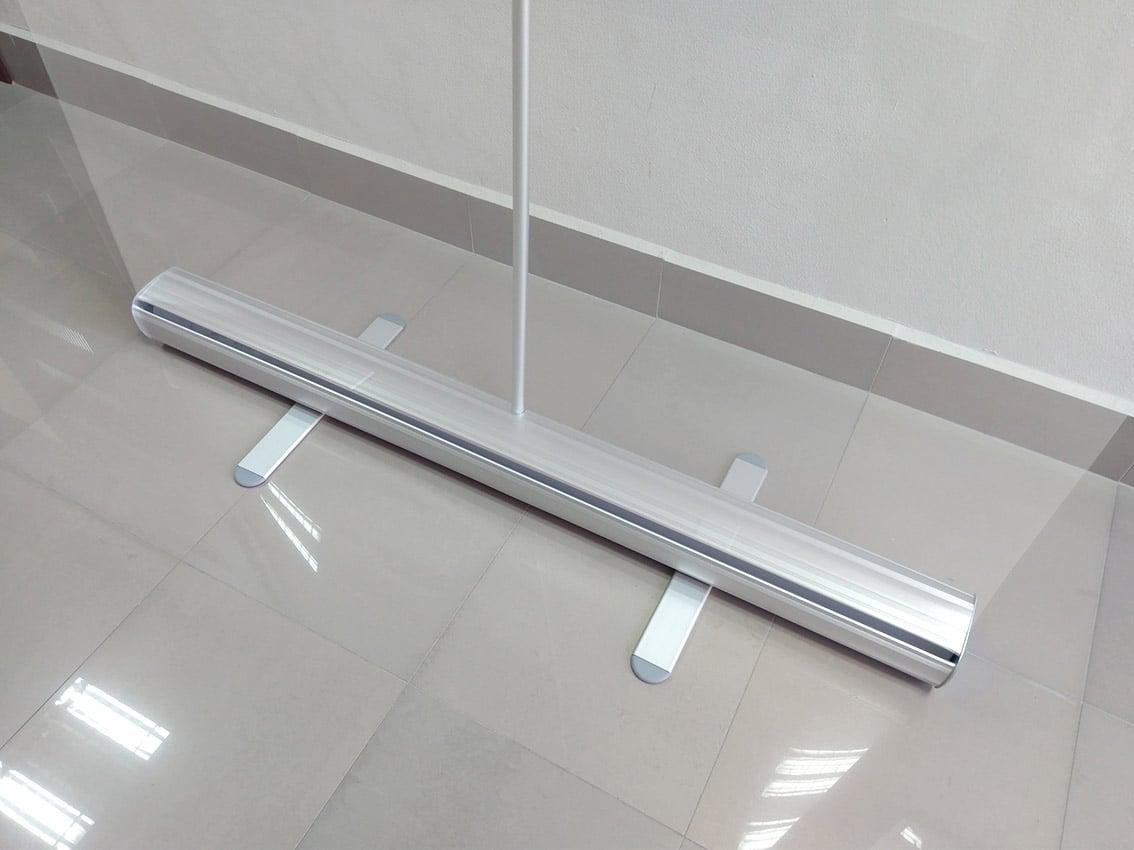 osłona przezroczysta rollup z kasetą aluminiową