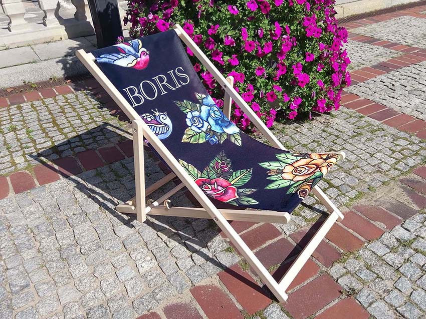 custom printed deckchairs