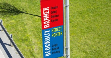 street lamp blockout poster