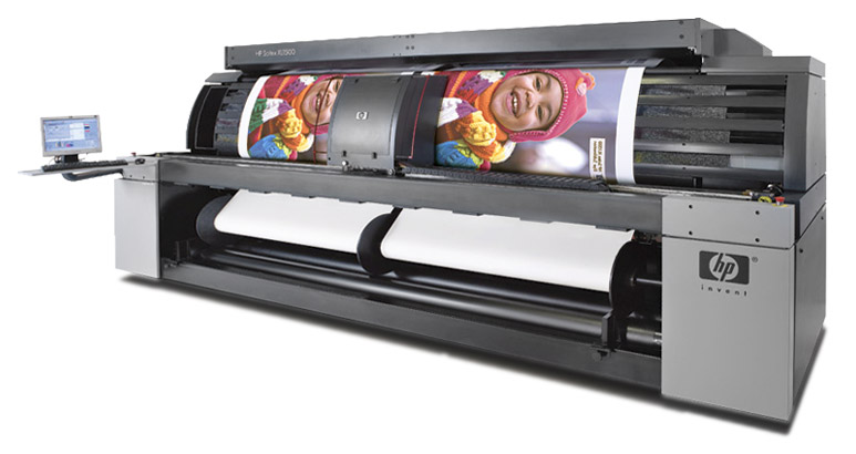 HP Scitex solvent printer of banners
