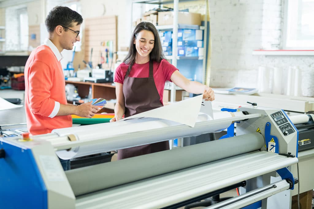 Roll lamination of prints