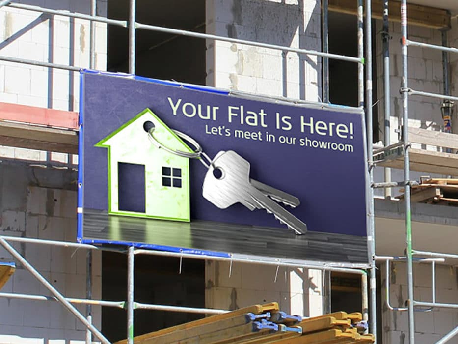 printed tarpaulins for construction site