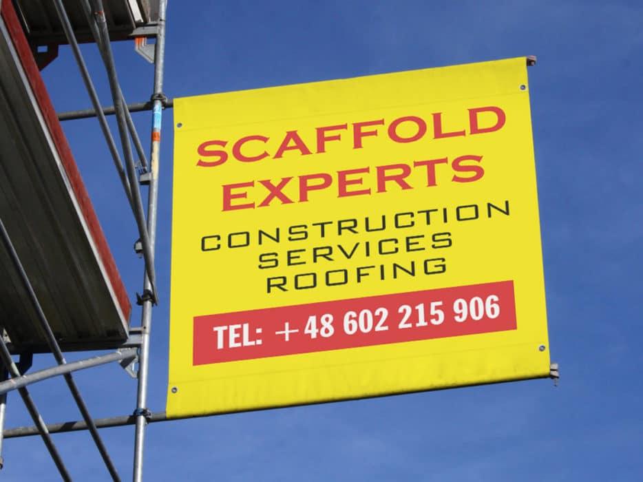 scaffolding advertising