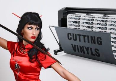 Self-adhesive vinyls cutting