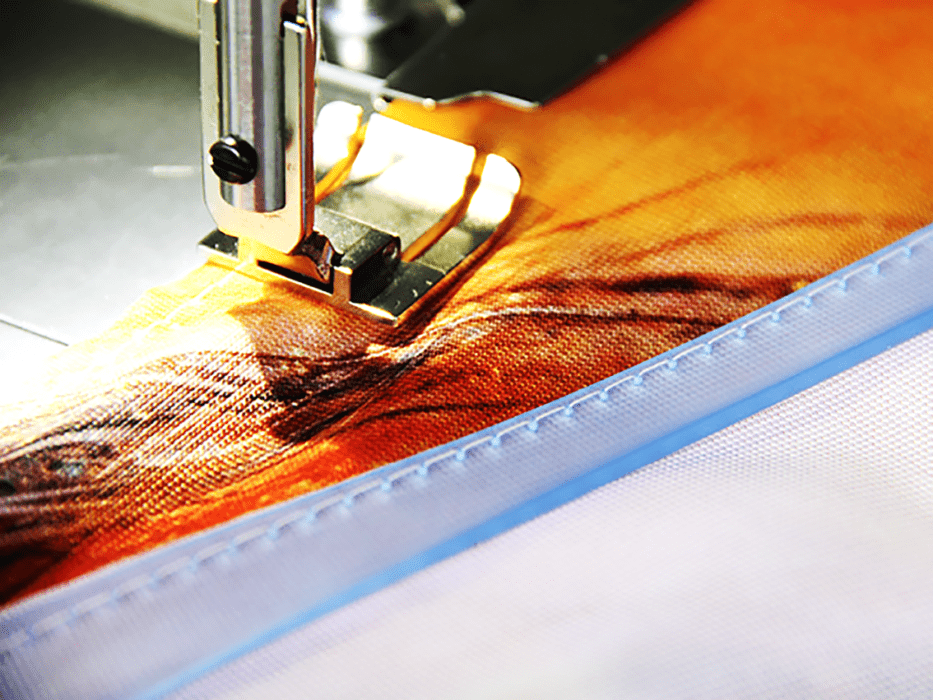 sewing of silicon flat keder