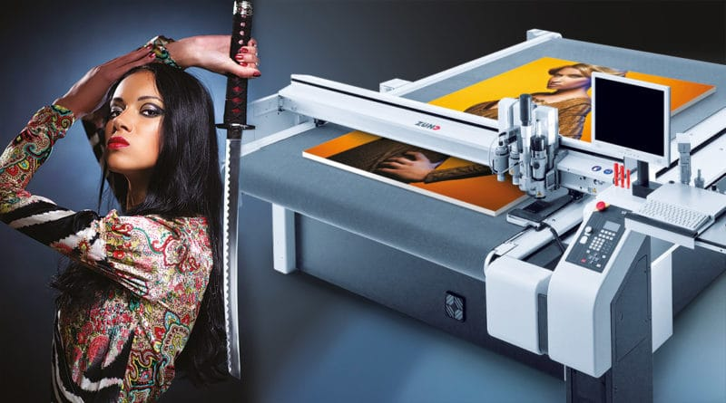 Digital cutting and milling of large-format prints