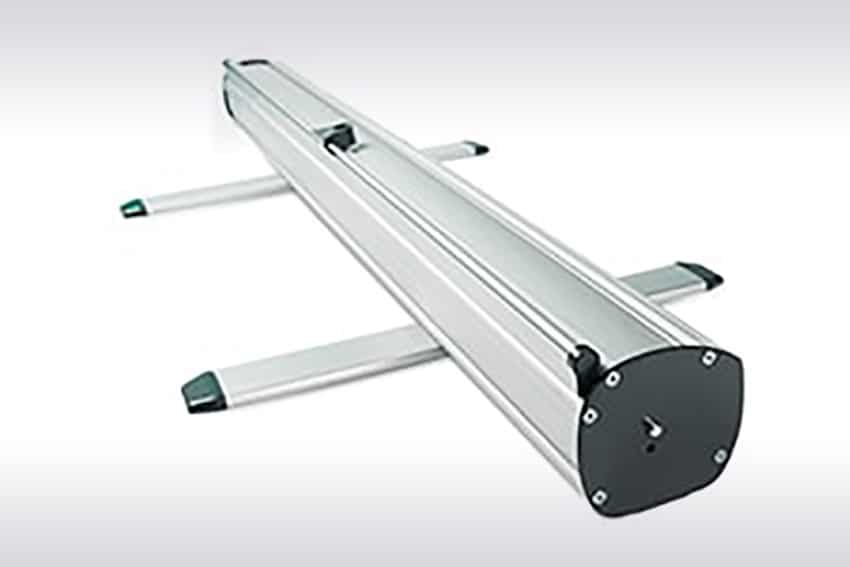 banner Roll-up Giant mechanism