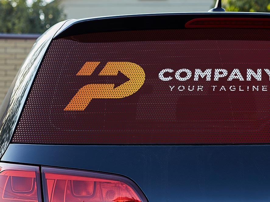 autocollant micro-perforé pour les vitres de voiture